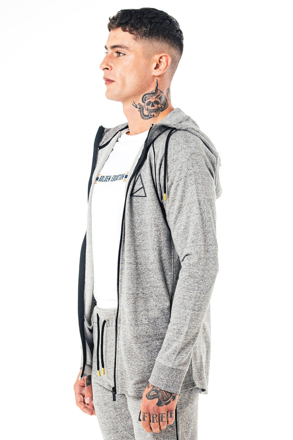 Golden Equation Berlin Muscle Fit Melange Men's Designed Jacket -  Grey from Golden Equation