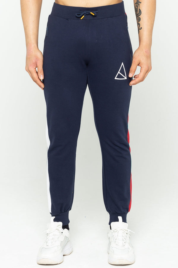 Golden Equation Bond Side Stripe Men's Joggers - Navy from Golden Equation