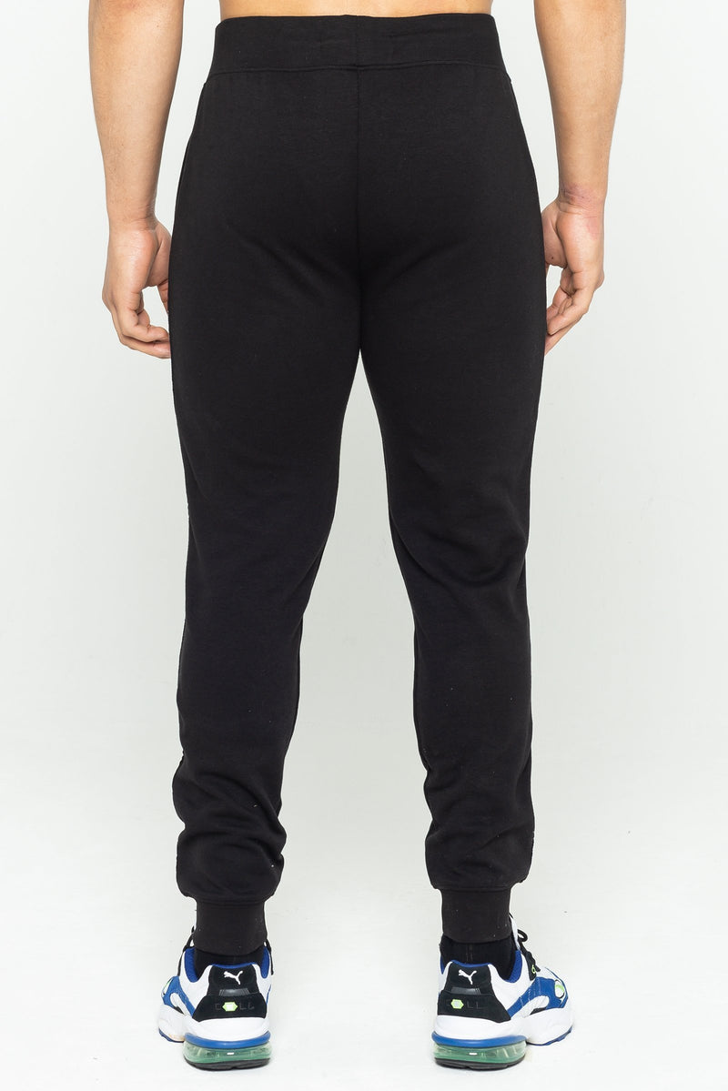 Mens Mens Cannon Side Stripe Joggers - Black (Joggers) - Golden Equation