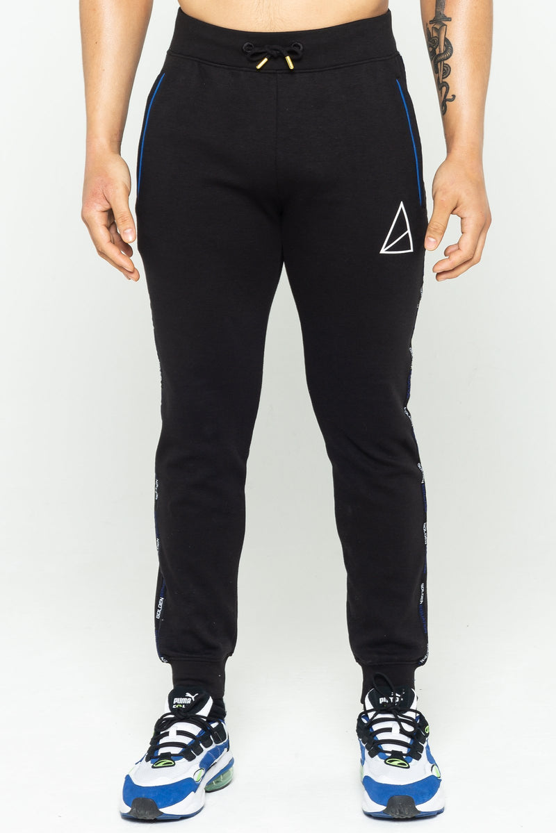 Cannon Side Stripe Men's Joggers - Black from Golden Equation