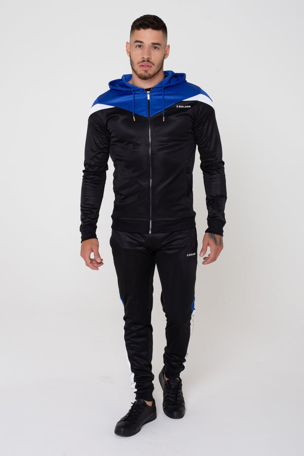Mens District Colour Contrast Hoodie - Black from Golden Equation