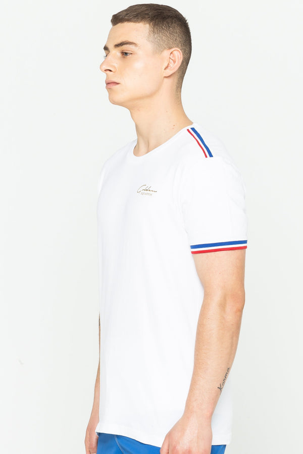 Mens Dutch Rib Signature T-Shirt - White from Golden Equation