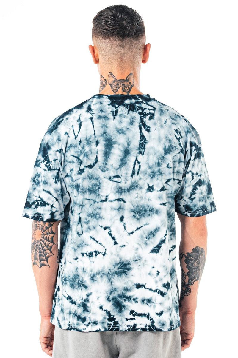 Golden Equation Essen Oversized Tie Dye Men's T-Shirt - White from Golden Equation