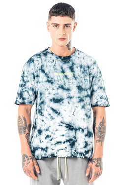 Mens Essen Oversized Tie Dye T-Shirt - White from Golden Equation