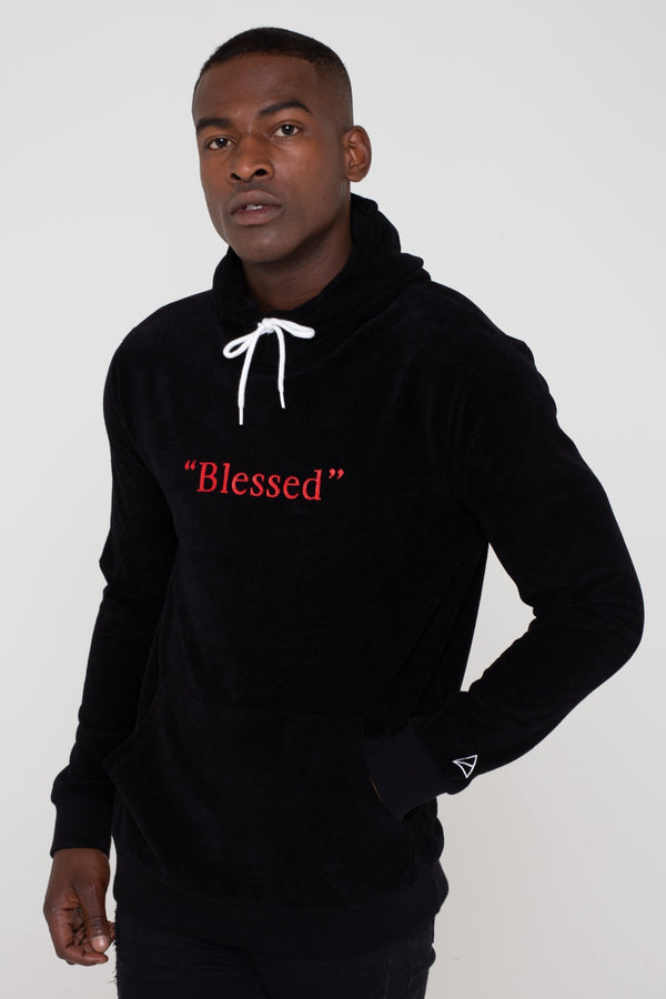 Mens Mens Fallen Hooded Sweatshirt - Black (Sweatshirt) - Golden Equation