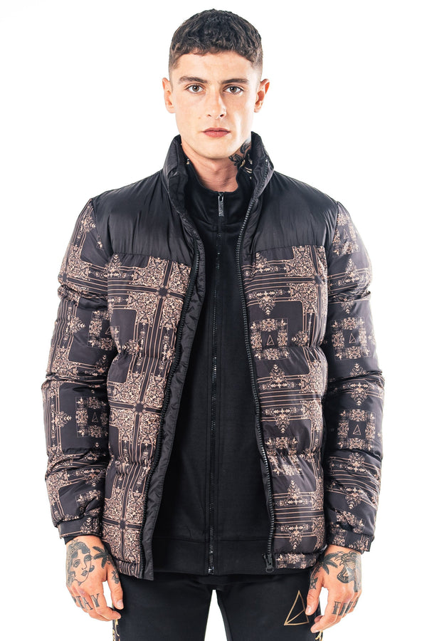 Mens Mens Foster Puffer Jacket - Black (Coats & Jackets) - Golden Equation
