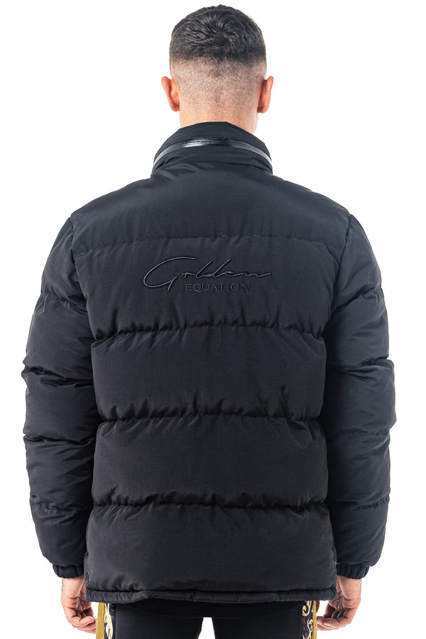 Mens Mens Grade Signature Puffer Jacket - Black (Coats & Jackets) - Golden Equation