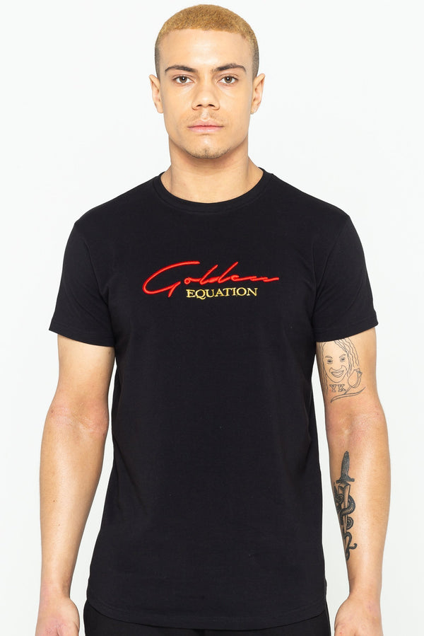 Mens Guide Signature T-Shirt - Black from Golden Equation