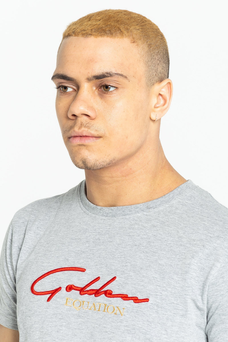 Guide Signature Men's T-Shirt - Grey Marl from Golden Equation