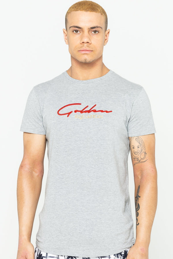 Mens Guide Signature T-Shirt - Grey Marl from Golden Equation