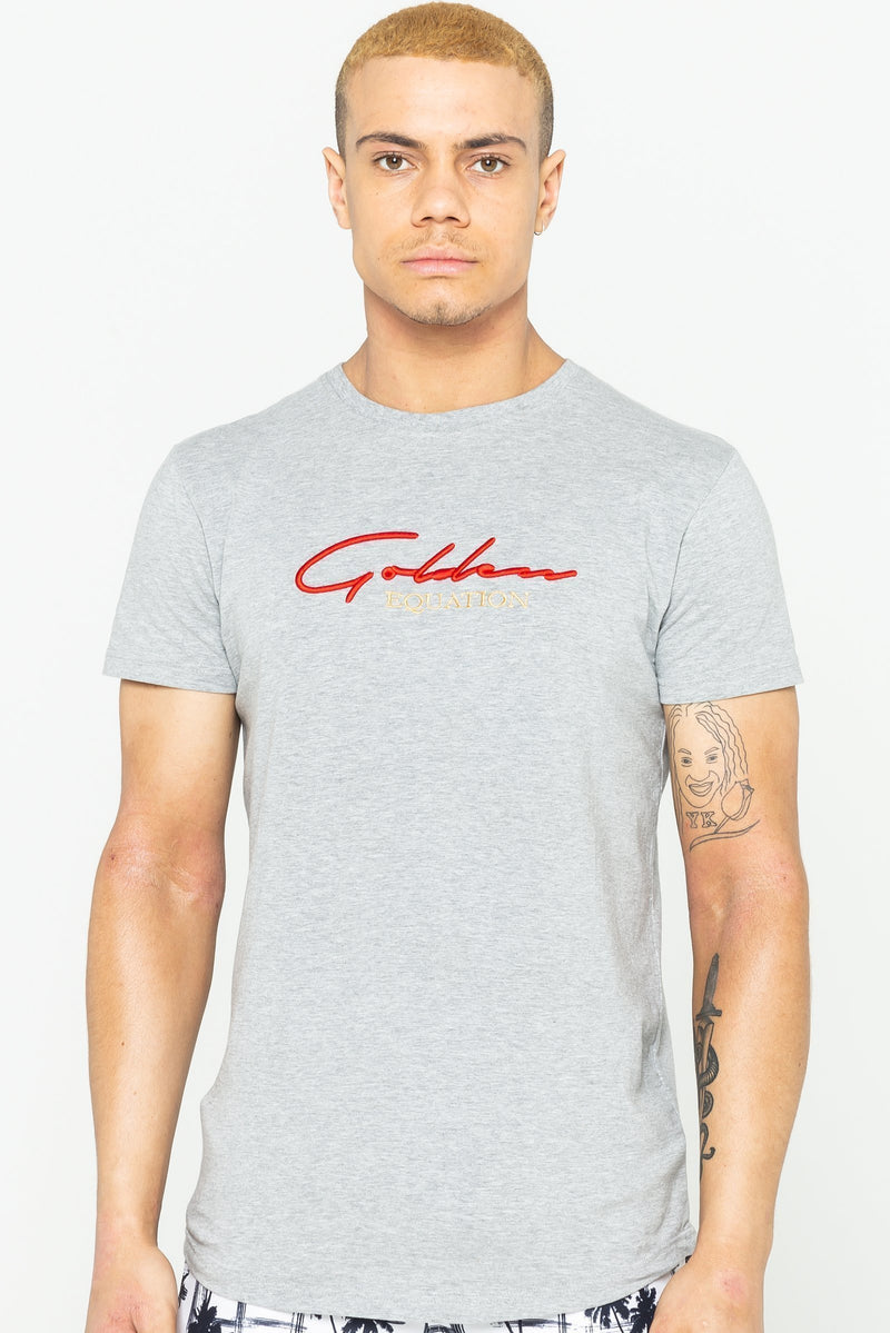 Golden Equation Guide Signature Men's T-Shirt - Grey Marl from Golden Equation