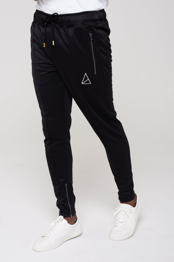 Mens Havana Colour Block Zip Tracksuit -  Black/Stone from Golden Equation