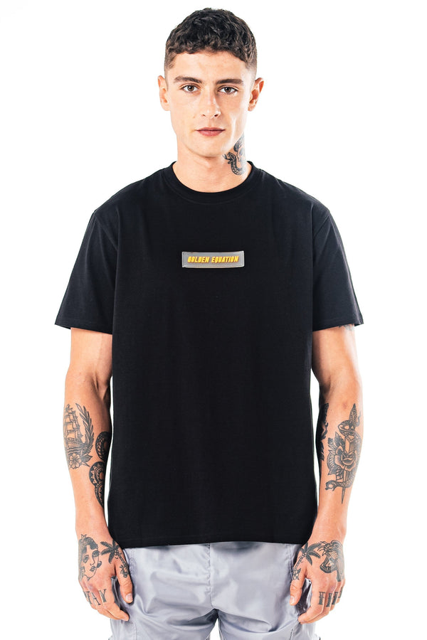 Mens Mens Herat Box Fit T-Shirt - Black (T-Shirts) - Golden Equation