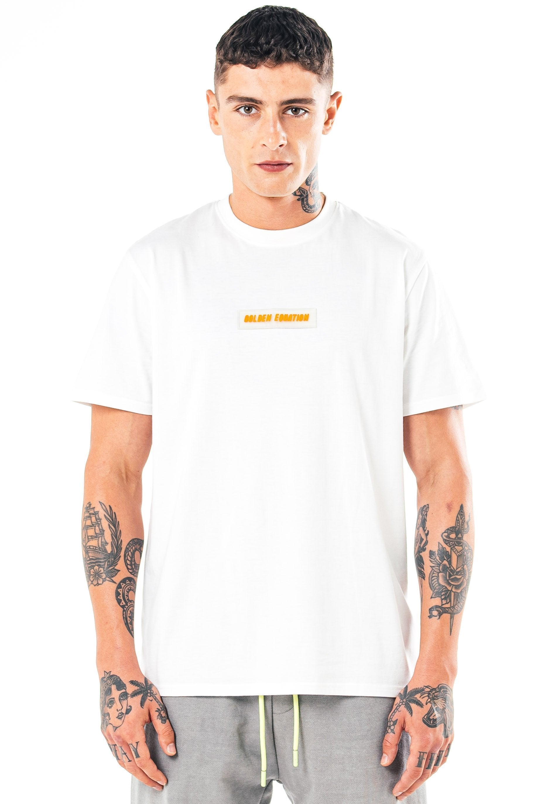 Golden Equation Herat Box Fit Men's T-Shirt - White, Small