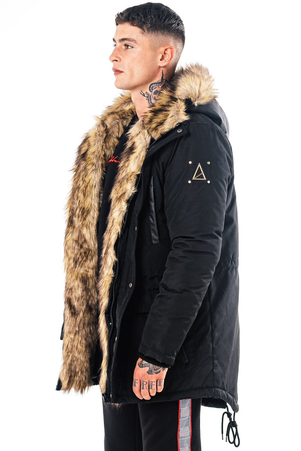 Golden Equation Levant Men's Parka Coat - Black from Golden Equation