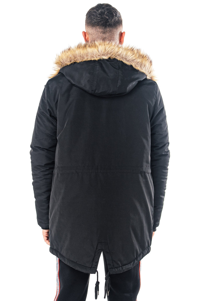 Mens Levant Parka Coat - Black from Golden Equation