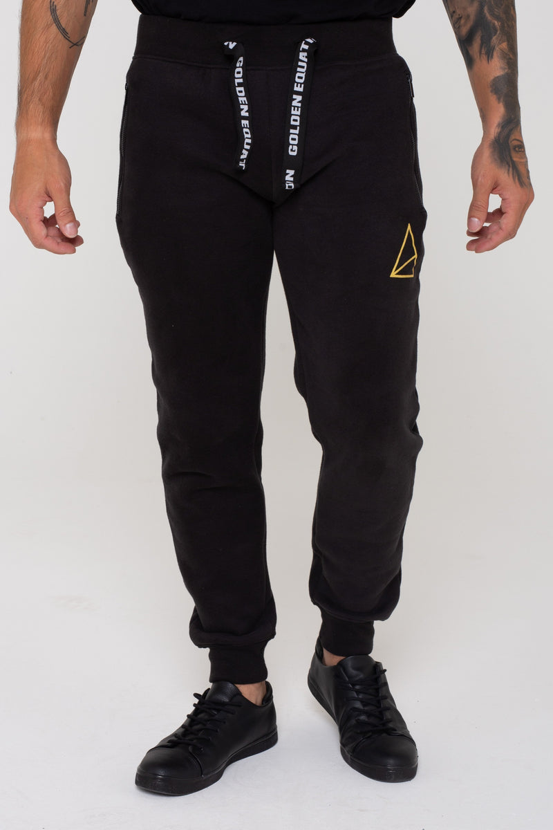 Mens Mens Mayday Fleeceback Skinny Fit Joggers -  Black (Joggers) - Golden Equation