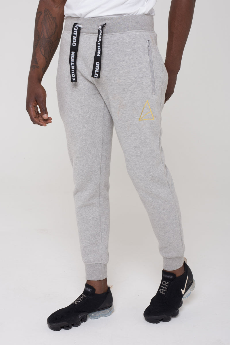 Golden Equation Mayday Fleeceback Skinny Fit Men's Joggers -  Grey from Golden Equation