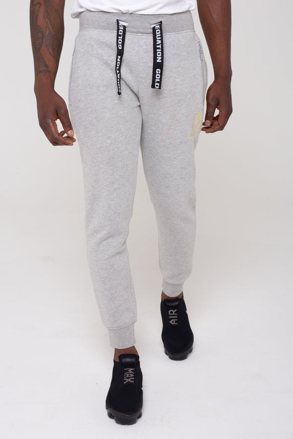 Mens Mens Mayday Fleeceback Skinny Fit Joggers -  Grey (Joggers) - Golden Equation