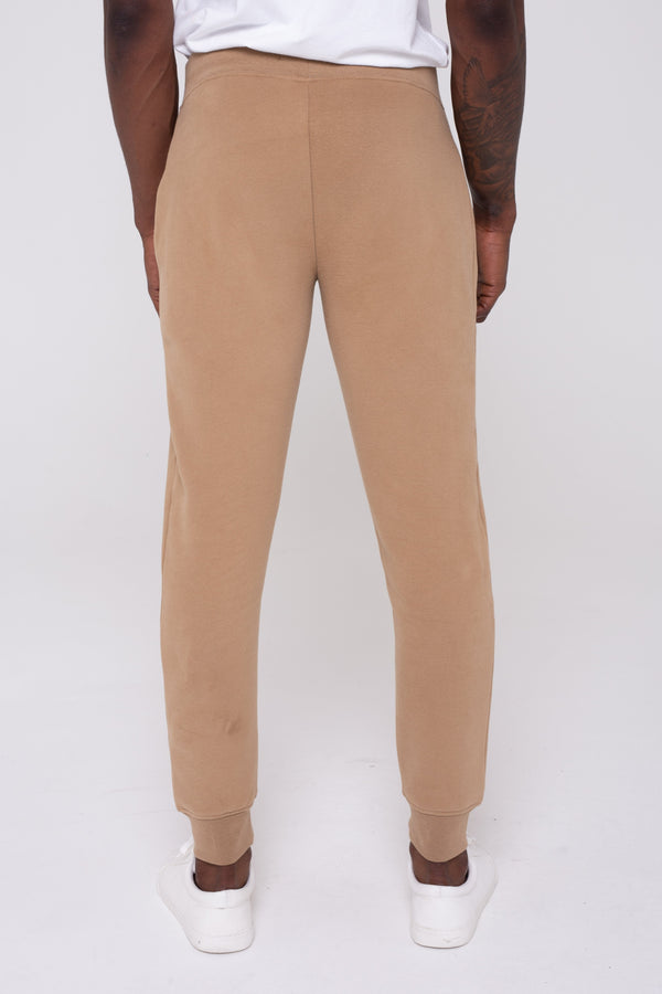 Golden Equation Mayday Fleeceback Skinny Fit Men's Joggers - Stone from Golden Equation