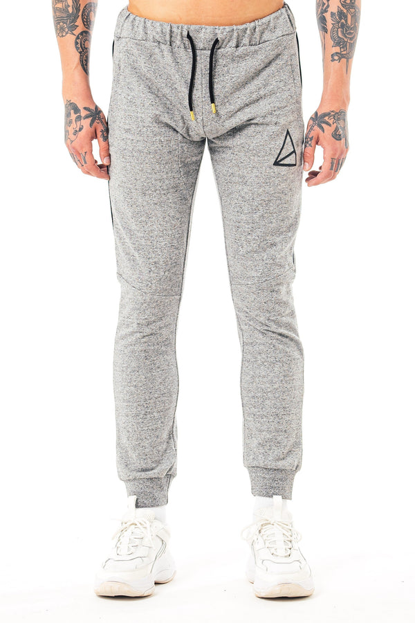Mens Moscow Skinny Fit Melange Joggers -  Grey from Golden Equation