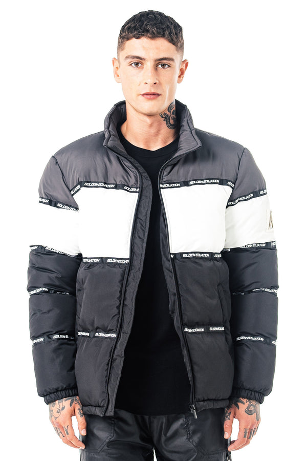 Mens Mens Nemesis Puffer Jacket - Charcoal (Coats & Jackets) - Golden Equation