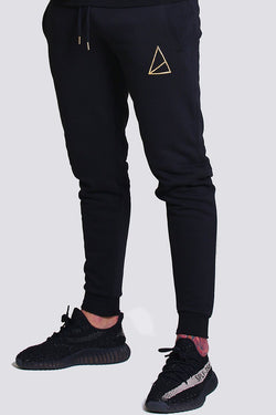 Mens Nerja Skinny Fit Core Joggers -  Black from Golden Equation