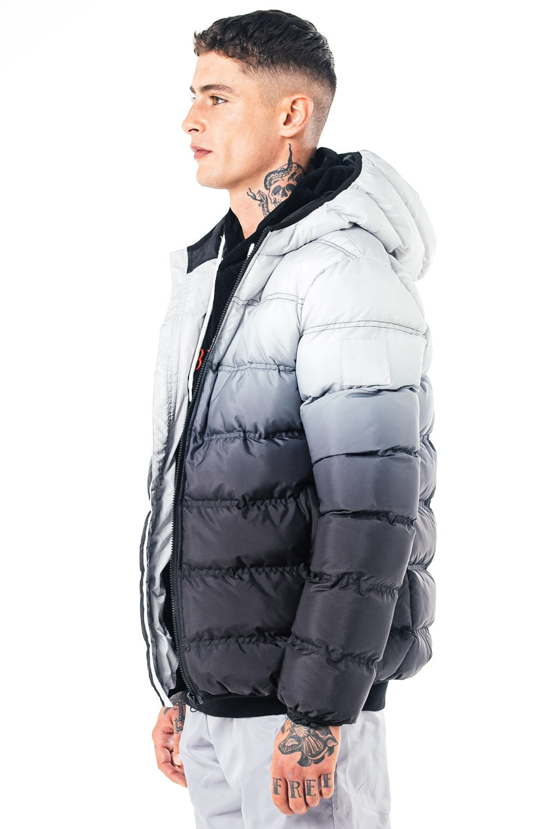 Niwaz Men's Puffer Jacket - White/Black from Golden Equation