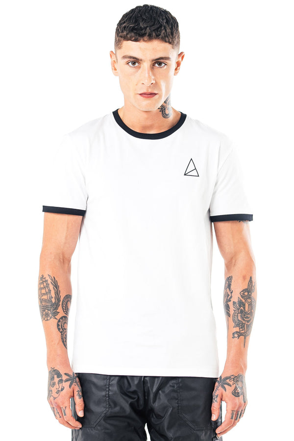 Mens Mens Novo Branded T-Shirt - White (T-Shirts) - Golden Equation