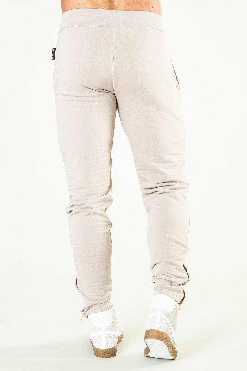 Mens Ondara Skinny Fit Biker Joggers - Stone from Golden Equation