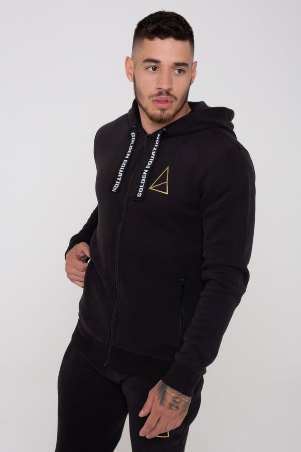 Palace Zip Through Men's Hoodie - Black from Golden Equation