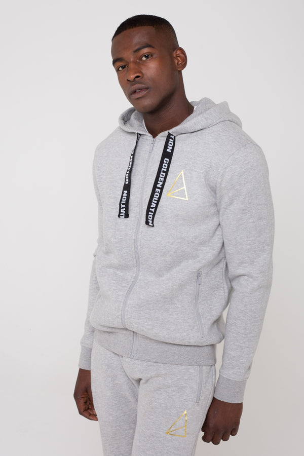 Mens Mens Palace Zip Through Hoodie -  Grey (Hoodies) - Golden Equation