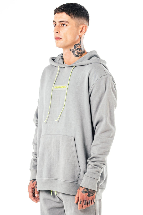 Mens Mens Parma Oversized Hoodie - Grey (Hoodies) - Golden Equation