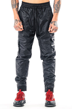 Golden Equation Riga Cargo Men's Track Pants - Black from Golden Equation