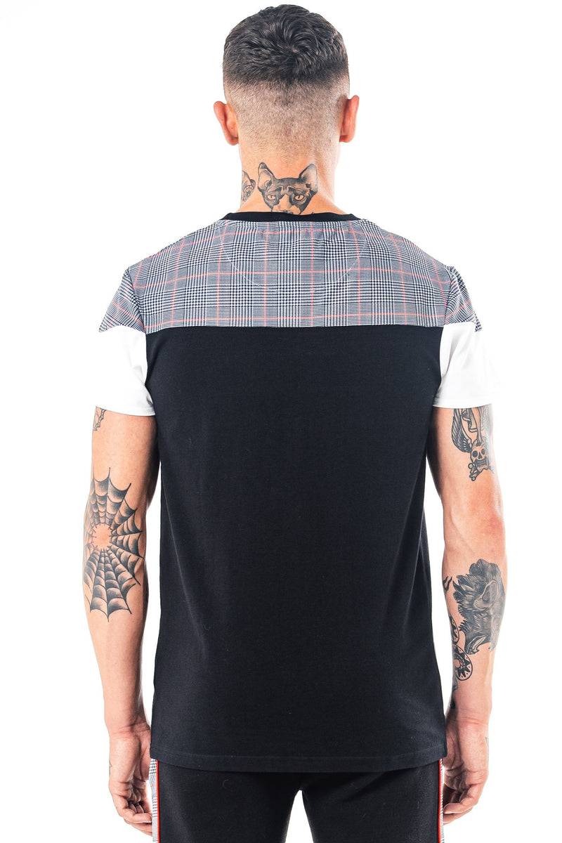 Golden Equation San Check Panel Men's T-Shirt - Black from Golden Equation