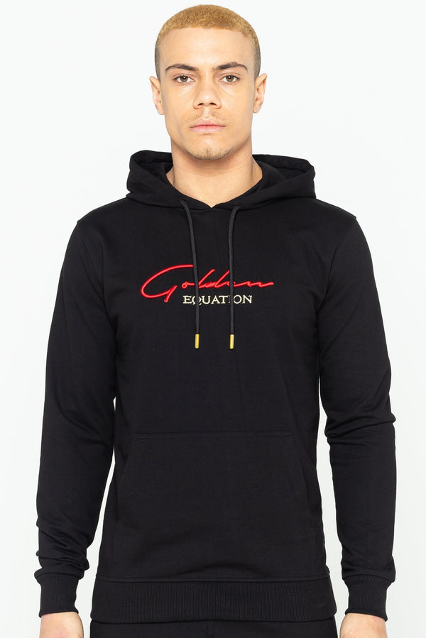 Mens Mens Trinity Logo Hooded Sweatshirt - Black (Hoodies) - Golden Equation