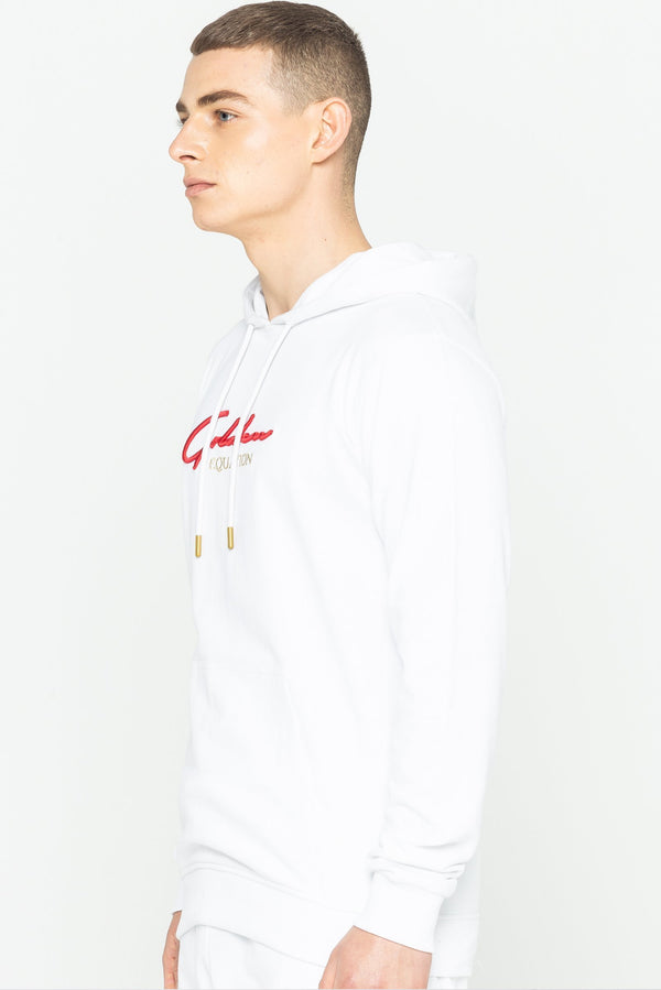 Mens Mens Trinity Logo Hooded Sweatshirt - White (Hoodies) - Golden Equation