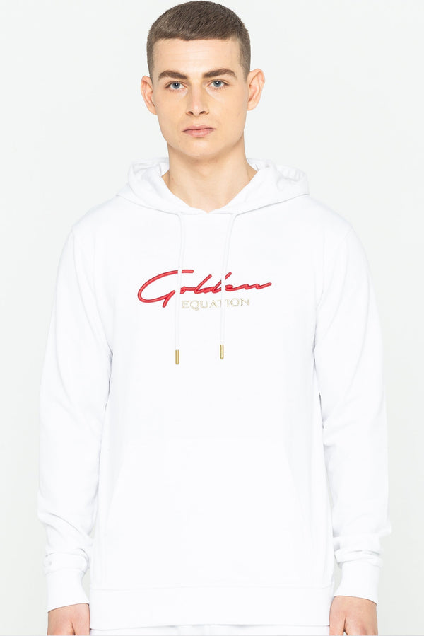 Mens Trinity Logo Hooded Sweatshirt - White from Golden Equation