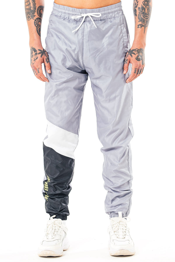 Mens Mens Varna Slim Fit Shell Jogger - Grey (Joggers) - Golden Equation