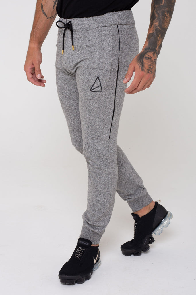 Moscow Skinny Fit Melange Joggers - Grey