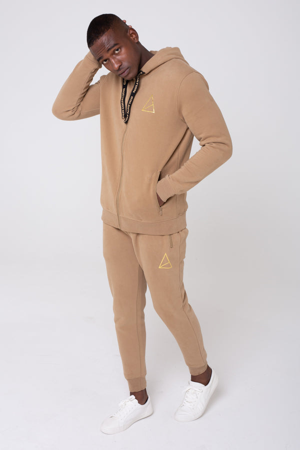 Mens Mens Palace Tracksuit - Stone (Tracksuits) - Golden Equation
