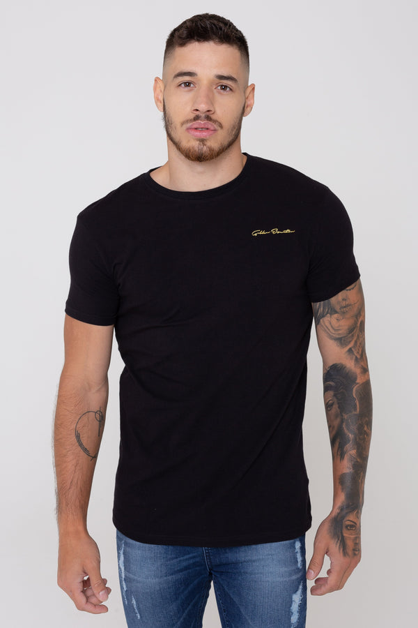 Golden Equation Sign Logo Straight Hem Men's T-Shirt - Black from Golden Equation