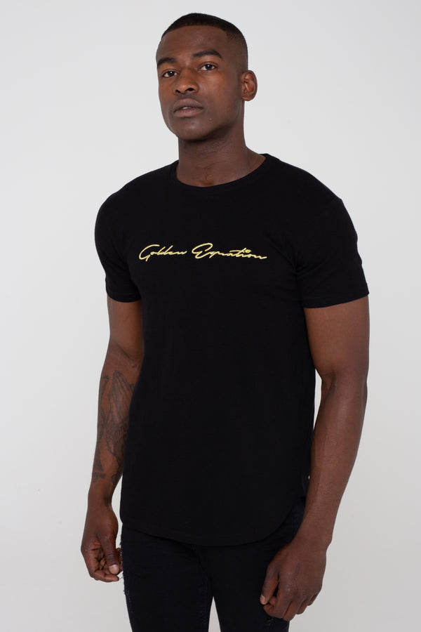 Golden Equation Signature Longline Men's T-Shirt - Black from Golden Equation