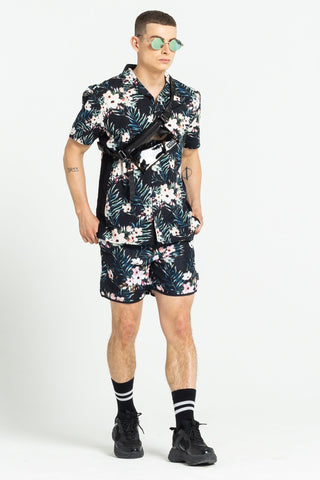 TERRACE FLORAL PRINT TWIN SET - BLACK