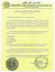 Halal Certification Frontrow Products