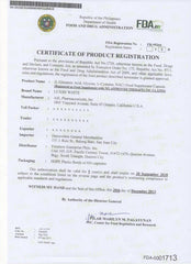 Luxxe White Certificate of Product Registration