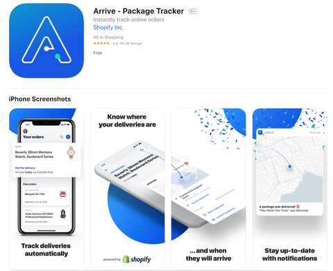 Arrive Package Tracker Tool