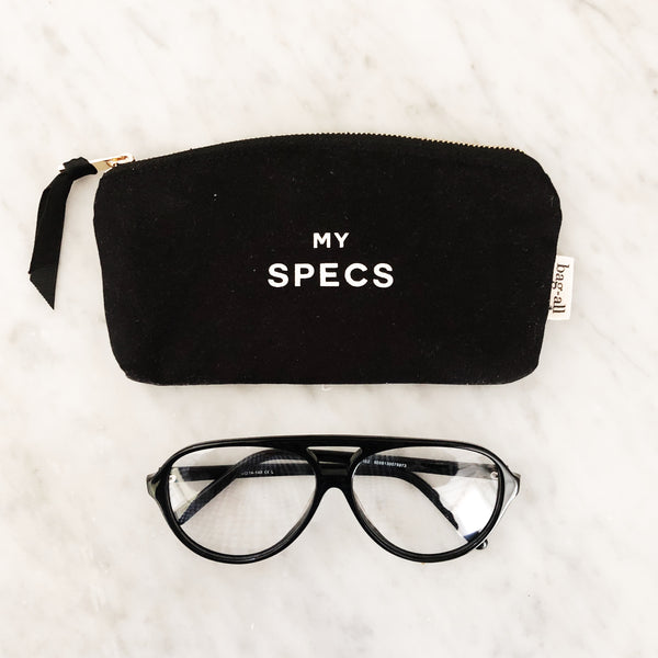 Specs Black Glasses Case - bag-all-australia
