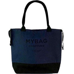 World Traveler Tote Navy - Black Print - bag-all-australia