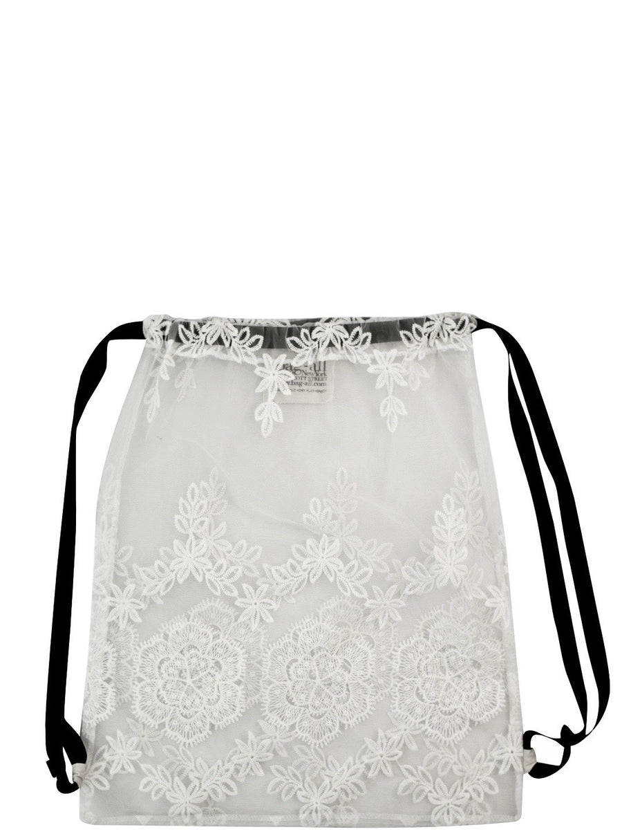 Lace Backpack White